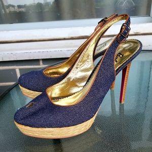 Barbie by Town Shoes Denim Heels